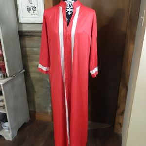 Vintage Vanity Fair Robe 12 Nylon Stripes